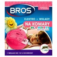 Bros Elektro + wkłady na komary dla dzieci od 1 roku życia 10 sztuk